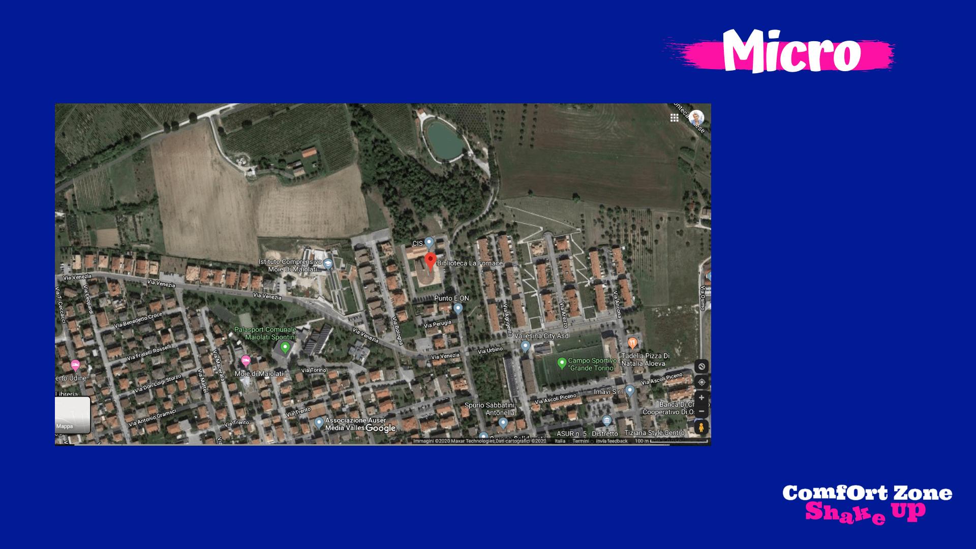 La Biblioteca dalle Mappe di Google (Micro)